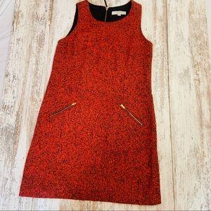Ann Taylor loft red black speckled dress